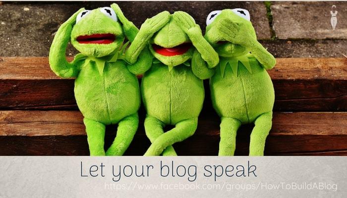 Let your blog speak