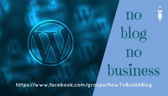 no blog no business